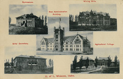 Multiview of University of Idaho, 1908 - Moscow, Idaho (Shook Photos) Tags: postcard postcards multiview ui vandals universityofidaho moscowidaho moscow idaho latahcounty administrationbuilding gymnasium collegeofmines dorm dormitory agriculturalcollege morrillhall college university school education