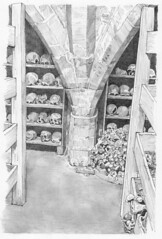 Central vault ribs, Rothwell charnel house