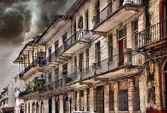 Nature's Fury (Bernai Velarde-Light Seeker) Tags: clouds oldquarters nature texture city urban decay storm oldbuilding cascoviejo cascoantiguo balconies balcones centralamerica centroamerica bernai velarde