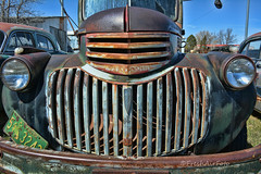 Say Cheese! (RootsRunDeep) Tags: truck patina old abandoned rust ruin decay grill wyoming happytruckthursday