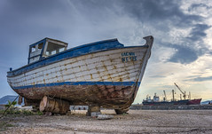 Out of the Sea (HDR) (panos_adgr) Tags: sony a6000 hdr elefsina boat clouds sky bracketed shots
