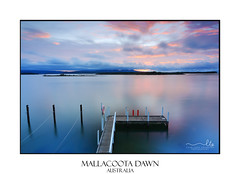 Mallacoota Dawn (sugarbellaleah) Tags: morning dawn mallacoota leisure water longexposure moorings jetty travel holiday vacation getaway serene clouds nature outdoors beautiful peaceful relaxation sky coastal inlet mallacootavicaustralia australia destination idyllic