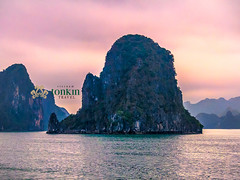 halongbay - island at sunset