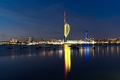 Spinnaker Tower (Sarah Marston) Tags: spinnakertower lipstickbuilding warrior hmswarrior boats reflection sony a6300 may portsmouth gunwharfquays 2017