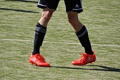 looks funny! (HeiJoWa) Tags: soccer fussball fusball hx400v sony deutschland saarland sport grass ball kicking feet shoe shoes schuhe beine legs