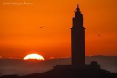 amanecer (Emilio Rodríguez Álvarez) Tags: torre hércules coruña amanecer galicia canon 7d tamron sp 150600mm f563 di vc usd g2 a022 sun sunny sunset