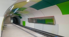 Munich after sunset: in an underground station. (F.R.L., thanks for your views and comments!) Tags: underground subway ubahn metro architecture night munich worldtrekker