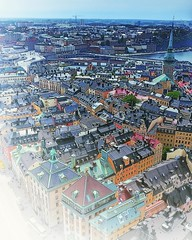 "(#droneview) | Gamla stan (Swedish: The Old Town), until 1980 officially Staden mellan broarna (The Town between the Bridges), is the old town of #Stockholm, #Sweden. Gamla stan consists primarily of the #island #Stadsholmen. Officially, but not colloquia (""guerrilla"" strategy) Tags: ifttt instagram droneview 