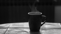 Week 21 - Morning (coffe) (shokisan) Tags: project52 coffe morning desaturation steam