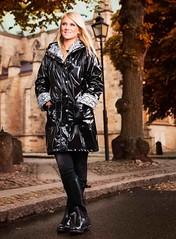 Black Raincoat (betrenchcoated) Tags: raincoat regenmantel regenjacke pu shiny sexy beautifulgirl rain