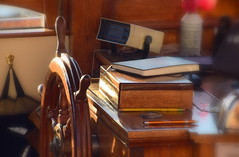 """""""Journal writing is a voyage to the interior.""""  ― Christina Baldwin (~~J) Tags: sail boat journal book tools light sea woodenboat"""