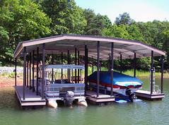 Boat Docks - Double Slip & Hip Roof