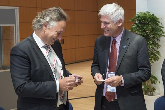 Maurice Geraets and Tim Macindoe networking