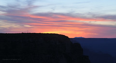 Grand Canyon Sunset (Vee living life to the full) Tags: sky cloud clouds blue picture view nikond300 2017 holiday travel tourism tourist placestovisit traveller pleasure usa california arizona distance city architecture creosote rock cliff sheer drop mountains skyline horizon sitting geology sedimentary compression uplift grandcanyon people sun sunset setting