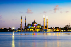 Crystal mosque (Patrick Foto ;)) Tags: arabia arabic architect architecture asian attraction building city crystal culture dawn day dome dusk eid evening faith god gold islam islamic landmark landscape malay malaysia minaret monument morning mosque muslim oriental palace peaceful places pray prayer ramadhan religion religious river saudi scenery shrine sky spiritual symbol temple terengganu tourism twilight worship kualaterengganu my