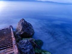 Blue Hour (Tassos Giannouris) Tags: kos island sea seascape rocks sunset rusty waves long exposure water smooth
