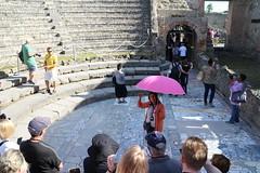 Pompeii tour guide (SteveProsser) Tags: amalficoast italy pompeii mountvesuvius mtvesuvius odeontheatre odeumtheatre volcano 79ad theatrumtectum