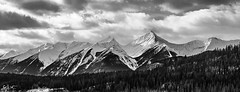 The Mountain Range (C.J.W Photography) Tags: photography landscapephotography canada britishcolumbia outdoor forest travel travelphotography explore adventure blackandwhite clouds peaks northamerica discover canon bw sky black white nature light snow winter winterlandscape trees contrast cjwphotography