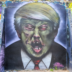 Tom Blackford (SileeSoft) Tags: graffiti painting drawing abstract streetart art bricklane spray tom blackford donald trump