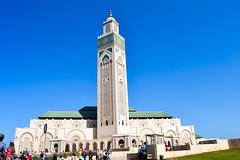 Moschea Casablanca (jeigiam) Tags: luci colori colors light sky casablanca marocco moschea blu