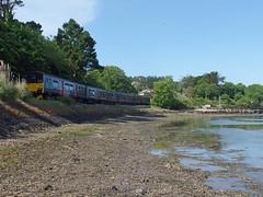 150121 & 150106 Lelant Quay (Marky7890) Tags: gwr 150121 150106 class150 sprinter 2a35 lelant railway cornwall stivesbayline train