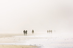 Tormenta de arena (Mimadeo) Tags: sandstorm duststorm wind people beach walking sand haze mist silhouette silhouettes water coast low walk sunlight person nature coastline fog shore morning sunny windy highkey lowvisibility winter