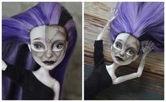 Spectra repaint (evil'sdolls) Tags: doll makeup faceup monster high monsterhigh monsterhighdoll spectra ghost ooak repaint custom dolls mattel blacklips