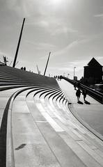 curve . . . (C.Kalk DigitaLPhotoS) Tags: stufen steps city stadt hamburg germany silhouette sunny sonnig kurve curve schatten shadow hamburgerhafen portofhamburg blackandwhite schwarzweis bw sw outdoor urban treppe stairs hamburgerfotofreaks