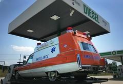 Classic Caddy Ambulance (osubuckialum) Tags: 2017 northcarolina nc ambulance emergencyvehicle classic orange white caddy cadillac