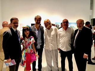 Spanish Consul Santiago Cabanas in conversation with  Wendy Guerra, Nat Chediak, Julian Linares and Fernando Garcia Casas, Secretario de Estado para Iberoamerica visiting cce Miami.