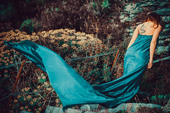 Stefania (Sandro Gherbassi 1968) Tags: longdress dress girl cute beauty wind tattoo tattoogirl 5terre italy model portovenere nikon nikkor