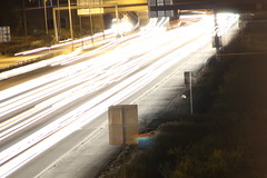 Our first attempts at night photography. (The4 Of Us) Tags: night photography landscape nighttime long exposure car cars lights highway moon sureal majestic
