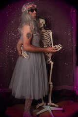 Day 37 - Nobody Puts Baby In The Corner! (Rob Johnstone) Tags: 365 self selfie portrait project frock crossdressing crossdresser skeleton dancing middle age aged man dirty wah wh werehere prom dress
