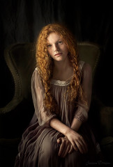 Lily ({jessica drossin}) Tags: jessicadrossin portrait photography wwwjessicadrossincom girl woman dress naturallight los angeles redhair redhead lace chair classical freckles curls curly
