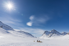 into the great wide open (Markus Trienke) Tags: grönland kulusuk kommuneqarfiksermersooq greenland eastgreenland winter cold snow mountains travel landscape nature blue sky sun sunny dog dogs sled dogsledding mushing inuit