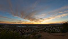 sOUTH x sOUTHWEST sUNSET (wNG555) Tags: 2015 arizona phoenix phx sunset fisheye rokinon8mmf35fisheye samyang sky clouds fav25 fav50