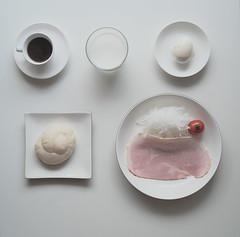 sunday morning (N.sino) Tags: xt1 biogon28mm minimalism breakfast sundaymorning white bread coffee milk tomato ham egg ハム ゆで卵 パン 牛乳 大根サラダ エスプレッソ トマト