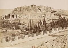 Ο Ναός του Ηφαίστου και η δυτική πλευρά της Ακρόπολης (Giannis Giannakitsas) Tags: αθηνα athens athen greece grece griechenland 19th century 19οσ αιώνασ ακροπολη acropolis θησειο κωνσταντινοσ αθανασιου