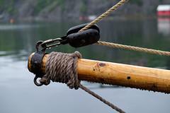 Shackle (joedegaa) Tags: shackle rope sail maritime sea rain båt
