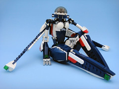 Bluebird / Bayley 003 (E-Why) Tags: lego robot girl fembot gynoid moc mech android jet creator toy