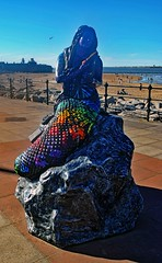 The Black Rock Mermaids. No.5 The Mermaid of Memories. (Kay Bea Chisholm) Tags: statue beach fortperchrock rivermersey marinepromenade 2017 wallasey newbrighton mermaidtrail blackrockmermaids mermaidofmemories