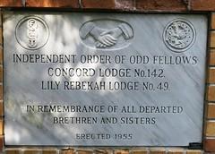 Memorial - Odd Fellows & Rebekahs (Hear and Their) Tags: fraternal grave stones markers oddfellows masonic mason freemason kingsville ontario greenhill cemetery
