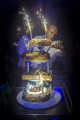 Wedding cake (sebastienloppin) Tags: fire love fest canon wedding light cake