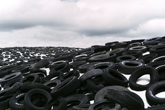 Untitled (reinfected) Tags: tire mountain abstract range outside cloudy moody different unique landscape land scape tires