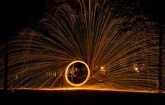 FUNKY GAMES (marionrosengarten) Tags: lightpainting steelwool burning burningsteelwool berlin park longexposure nikon night nightshot funky