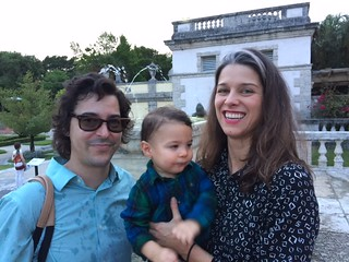 Artists Ruben Millares and Antonia Wright with son Otis at the Contemporary Arts Program event at Vizcaya