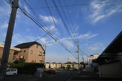 Blue sky before sunset (S. Inoue) Tags: bluesky 青空 yashio 八潮 s100 powershots100