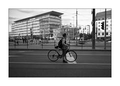 pole position (Istvan Penzes) Tags: leicammonochromtyp246 penzes manualfocus rangefinder availablelight handheld bw black white bratislava slovakia leicasummicron35mmv1 street biker
