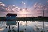 Lever de soleil à La Baudissière (gaillardou) Tags: oléron lever soleil cokin filter ciel marais eau paysage coucher sunset sunrise canal chenal mer océan huitre artiste amateur gnd rayon cabane ostréicole nuages rouge bleu french photo canon france français française jeune pose