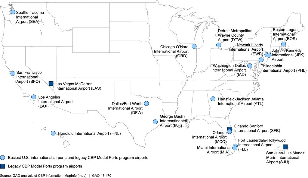 The Worlds Best Photos Of Automatedpassportcontrol Flickr Hive Mind - Map of us international airports